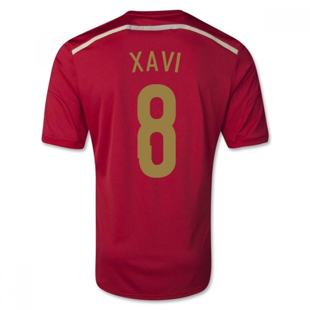 2014-15 Spain World Cup Home Shirt (Xavi 8) Kids B077PJYXMY
