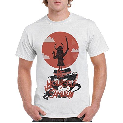xs4tdg563kfu Be Yourself Samurai Warrior Armor Serpent Men's Short Sleeve T-Shirt Casual Printed Short Sleeve (Samurai Warrior Armor)