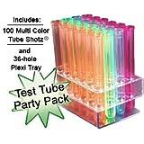 Test Tube Party Pack-100 Tube SHOTZ, 36-hole rack