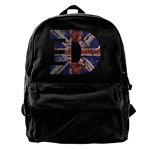 Price comparison product image ATTENRY Canvas Backpacks Ed Sheeran Canvas Backpack Travel Rucksack Backpack Daypack Knapsack Laptop Shoulder Bag