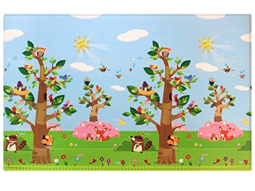 Baby Care Play Mat - Birds on the Trees (Large) by Baby Care