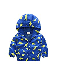 Baby Girl And Boy Outerwear Windbreaker Hooded Jackets Coat