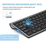 Wireless Keyboard and Mouse Combo - LEKVEY Slim