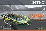 Intex Seahawk 4 Inflatable Boat Set + Oars/Pump/Motor Mount   68351E+ 68624E