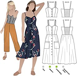 2562b23de8d Style Arc Sewing Pattern - Ariana Woven Dress (Sizes 04-16) - Click