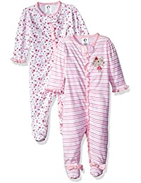 Baby Girls' 2-Pack Sleep 'N Play