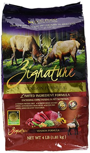 Zignature Venison Formula Dog Food, 4 ()
