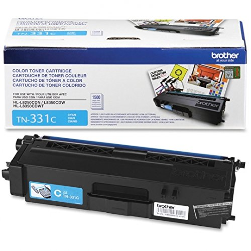 Brother Genuine Standard Yield Toner Cartridge, TN-331C, Replacement Cyan Toner, Page Yield Up To 1,500 Pages, Amazon Dash Replenishment Cartridge, TN331