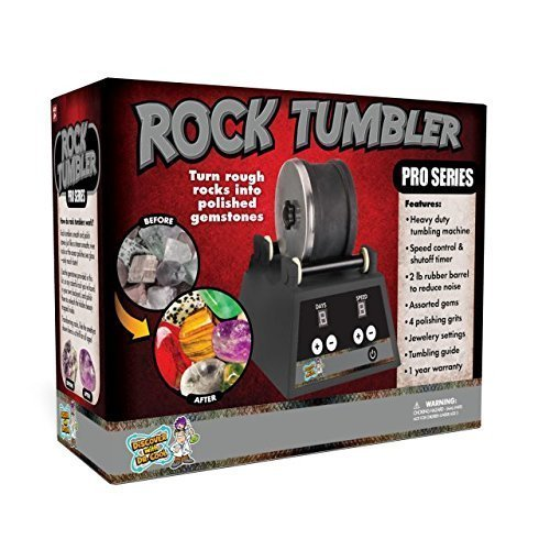 Discover with Dr. Cool PRO Series Rock Tumbler - Turn Raw Stones Into Dazzling Gemstones (Kids Rock Polishing Kit)