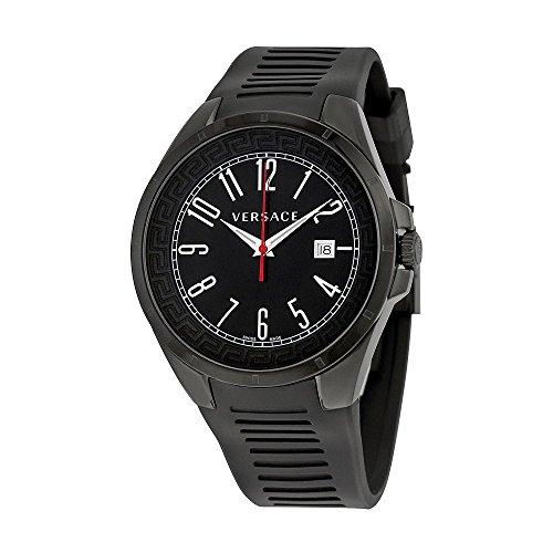 Versace-V-Man-Black-Dial-Black-Rubber-Strap-Mens-Watch-P7Q60D009-S009