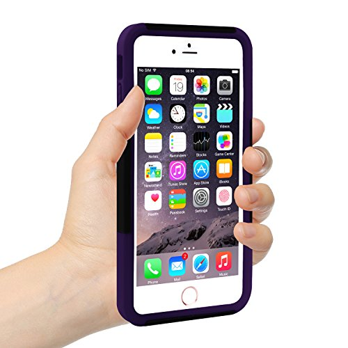 [Three Layer] iPhone 6 Plus / 6s Plus Case, iXCC Kickstand Holster Belt Clip Shockproof Case Cover with Soft Silicone Lining and Hard PC Back - Purple Photo #4