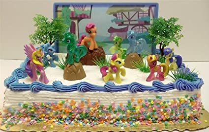 Fabulous My Little Pony Birthday Cake Topper Featuring 10 Random My Little Personalised Birthday Cards Paralily Jamesorg