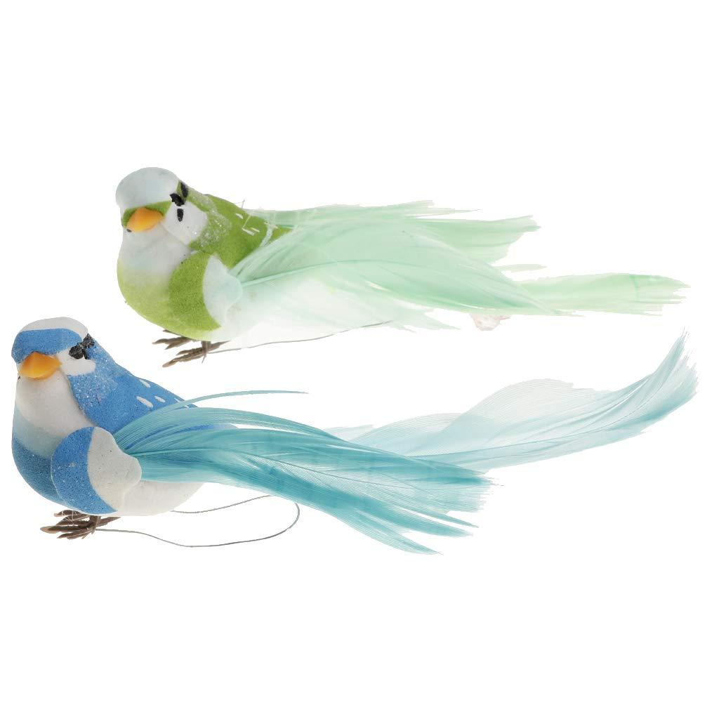 SM SunniMix Vogel Fliegen Realistische Vogel Garten V/ögel Figur Dekor Ornamente Hingucker mit Clip s/ü/ße Eye Catcher