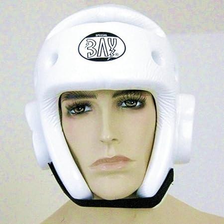 XL Taekwondo wei/ß CE Gr/ö/ße S M BAY/® KLS PU Kopfschutz Kopfsch/ützer Headguard Kampfsport Kickboxen TKD Kick-Boxen Tae Kwon Do L
