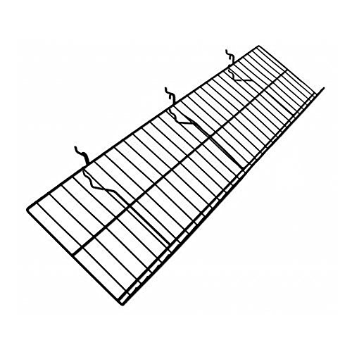 Amazon Com Retail Resource 26 075bl Wire Slat Wall Shelf 46 L