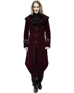 Devil Fashion Damen Mantel Jacke Roter samt Gothic Steampunk