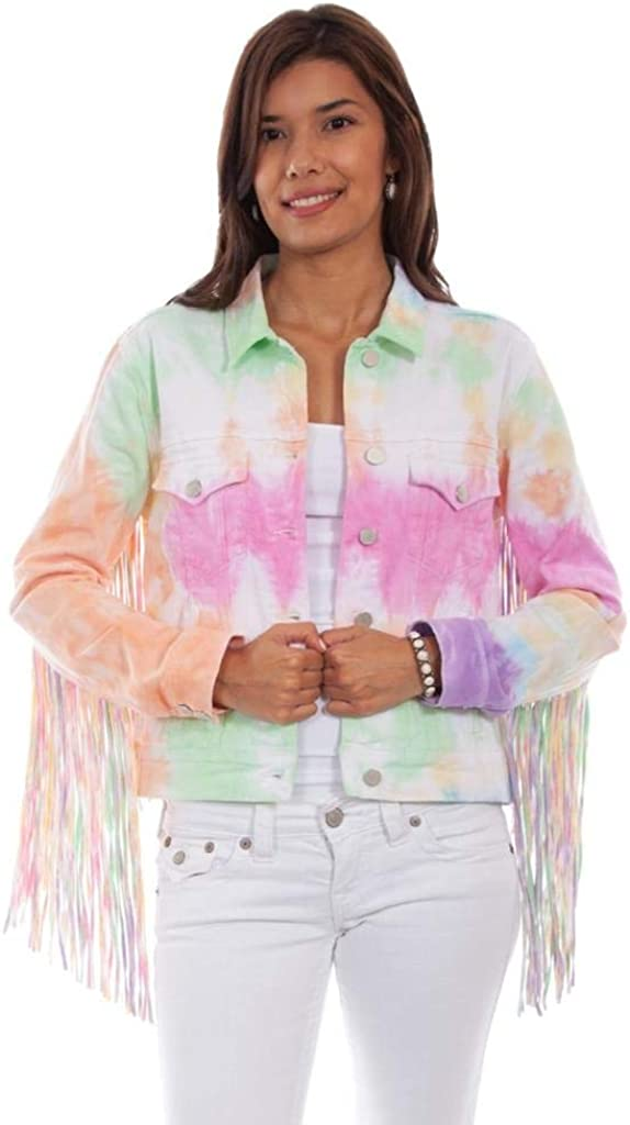 Vintage Coats & Jackets | Retro Coats and Jackets Scully Womens Honey Creek by Tie Dye Fringe Jacket - Hc688 $59.95 AT vintagedancer.com