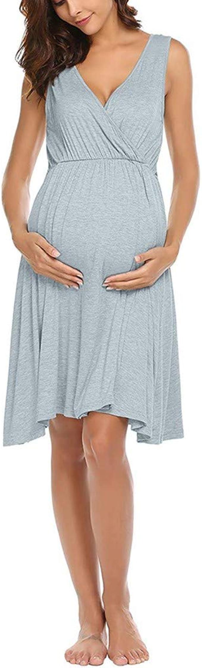 Rawdah_Vestido De Maternidad Fiesta Cortos Primavera Largos Faldas ...