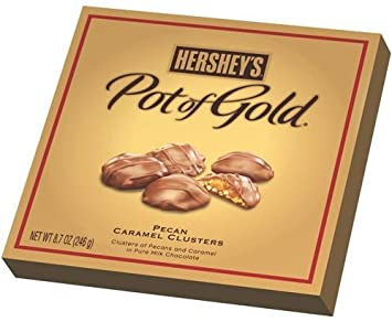 Amazoncom Hersheys Pot of Gold Pecan Caramel Clusters 87 oz