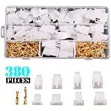 Kinstecks 380PCS 2.8mm Automotive Connector Kit 2 3 4 6 Pin Automotive Electrical Wire Connectors Kit for Motorcycle Motorbike Car Truck Scooter Boats Electric Instruments