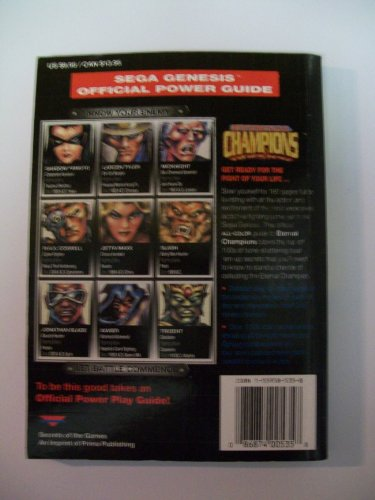 Eternal Champions: Sega Genesis Official Power Guide (Secrets of the Games)