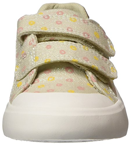 Clarks Comic Cool, Zapatillas Para Niñas Beige (Cream)