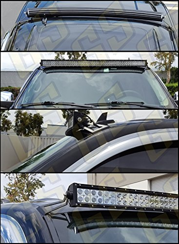 GS-Power-LED-Off-Road-Bar-Light-Brackets-for-GM-Pickup-and-SUV-Mount-at-Upper-Windshield-Roof-cab-Fits-07-14-Chevrolet-Chevy-Avalanche-Silverado-Suburban-Tahoe-and-GMC-Sierra-Yukon
