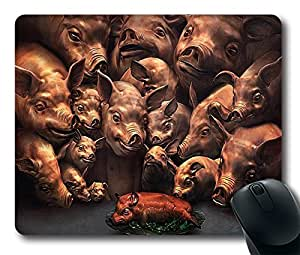 Roasted Pig Custom Mouse Pad Gaming Mousepad in 220MM*180MM*3MM -212090