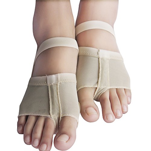 Dance Paws Pad Foot Thong Paws Half Shoes Fbeige