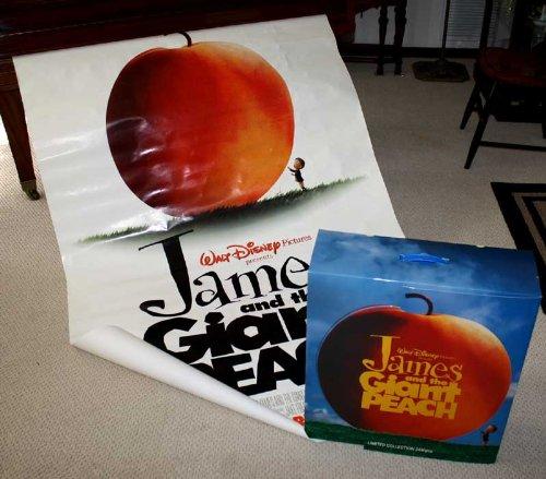 - Disney's JAMES & The GIANT PEACH Plush TOYS MIB, Movie POSTER, Blu Ray DVD, DISPLAY BOX