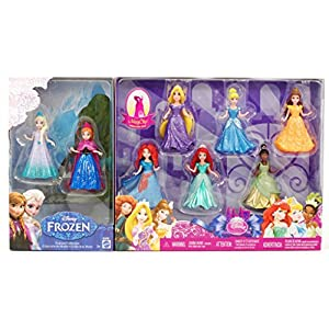 8-PC Doll Gift Set: 3.75 Disney Princess, featuring Anna and Elsa from Frozen - 51IZLigFzuL - 8-PC Doll Gift Set: 3.75 Disney Princess, featuring Anna and Elsa from Frozen