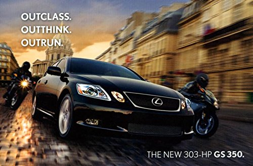 2007 Lexus GS350 ORIGINAL Factory Postcard
