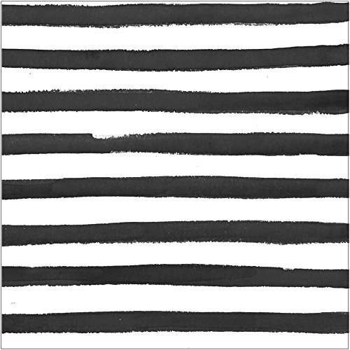 Creative Converting Elise 16 Count 3 Ply Dotted and Striped Luncheon Napkins, Licorice - -