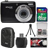 Polaroid iTT28 20MP 20x Zoom Digital Camera (Black) 16GB Card + Case + Tripod + Kit