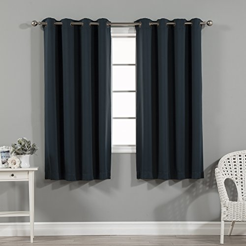 Construction Time Lined Curtains: Best Home Fashion Basic Thermal Insulated Blackout