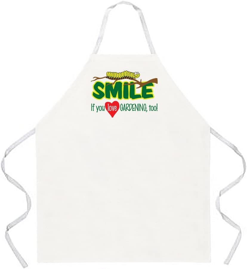 Natural One Size Fits Most Attitude Aprons Smile Love Gardening Apron