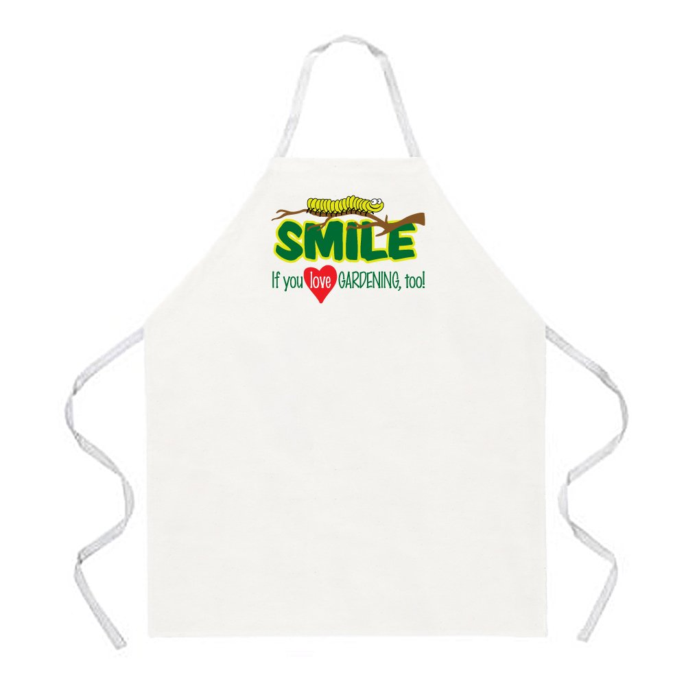 Attitude Apron Smile Love Gardening Apron, Natural, One Size Fits Most Attitude Aprons 2175