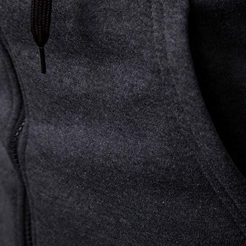 Taille Blouse Sweats Manteau Casual Zhrui À Manteau L Hommes Jour Gris Imprimer Sweat Hiver Foncé Foncé Longues Automne Pour Elk Pull Hommes Couleur Manches Tops EqEBAwa