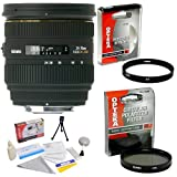Sigma 24-70mm f/2.8 IF EX DG HSM AF Standard Zoom Lens for Canon + Opteka UV Filter + Opteka CPL Filter + Opteka 5 Piece Cleaning Kit