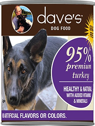 Dave's Premium Turkey 95% Meat For Dogs, 13 oz Can (Case of 12)
