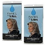 Set of 2 Raines Adult Rain Bonnet with Visor bundled by Maven Gifts - Best Reviews Guide