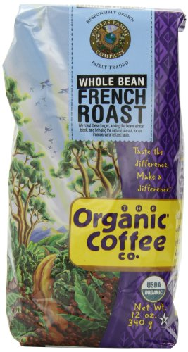 The Organic Coffee Co. Predominantly Bean, French Roast, 12 Ounce (Pack of 3)
