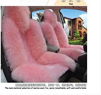 100Genuine Sheepskin Car Seat Cover 1 Pcs Front Covers Cushion