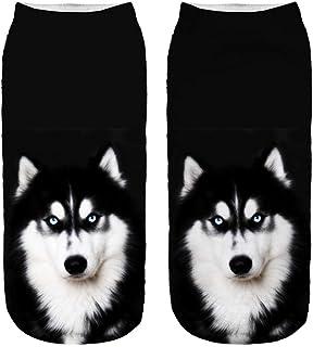 EMILF Home Calzini Casuali delle Donne dell'animale Stampato 3D Calzini della Caviglia Bassi Unisex del Cane Sveglio del Gatto (Color : 6#)