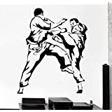 Wall Stcker Sport Karate Martial Arts Fighting Fighter Vinyl Decal (z3063)
