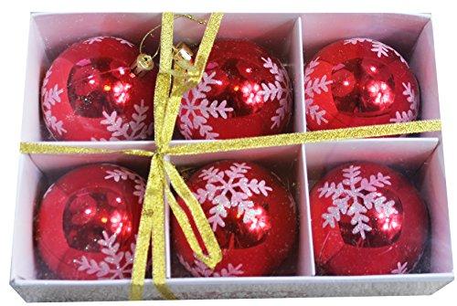 Design Glass Ball Christmas Ornament (Snowflake Shatterproof 3.15