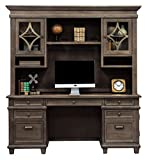 Martin Furniture IMCA689-682-KIT Credenza and Hutch, Weathered Dove For Sale