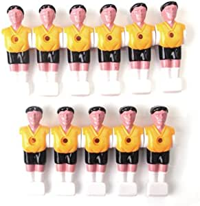 11pcs Muñecos de Plástico Hombres para Mesa De Futbolín de Color Amarillo: Amazon.es: Deportes y aire libre