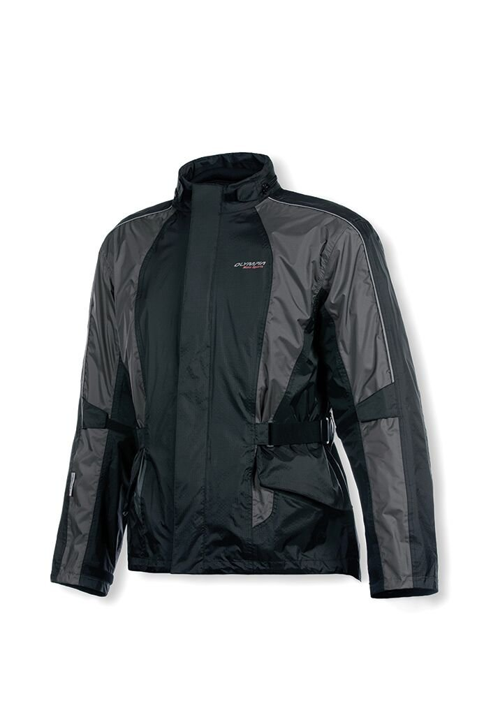 Olympia Moto Sports MJ415 New Horizon Rain Jacket (Black/Pewter, Medium/Large)
