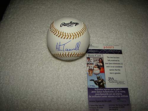 Alan Trammell Hand Autographed Signed Gold Glove Baseball JSA #P50873 Detroit Tigers MLB